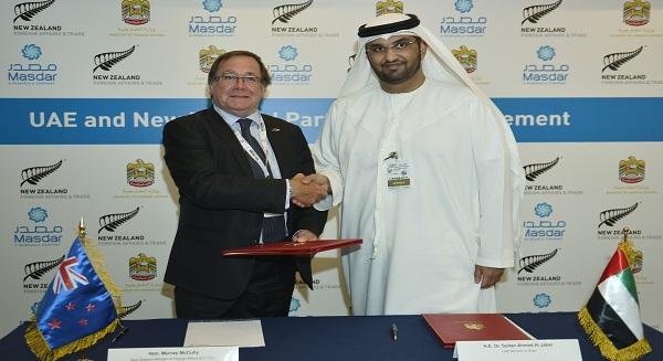 الإمارات العربية ونيوزيلندا يناقشا افق التعاون التجاري